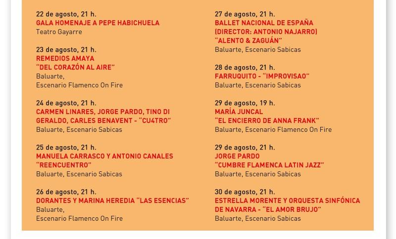 Flamenco on fire 2015, del 22 al 30 de agosto en Pamplona