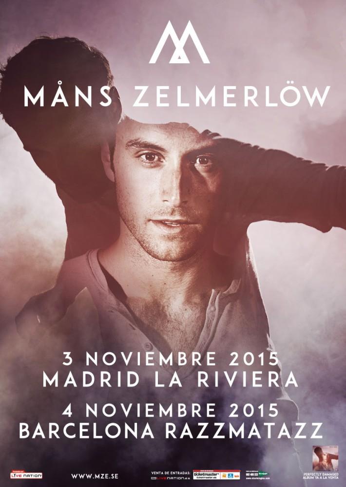 Mans Zelmerlöw, ganador de Eurovisión, gira por España en noviembre