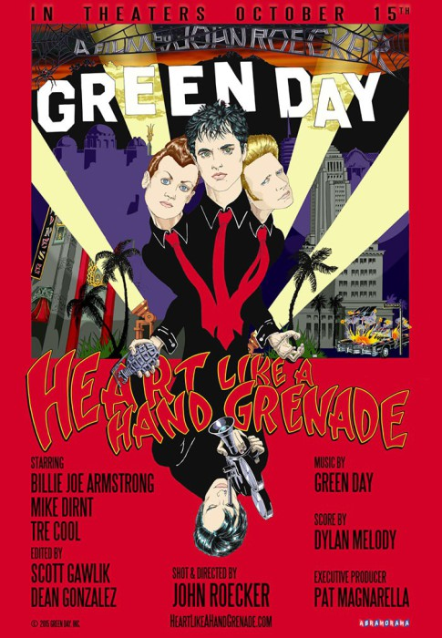 Green Day Heart like a grenade poster
