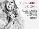 Anastacia, el 9 de abril de 2016 concierto en Madrid