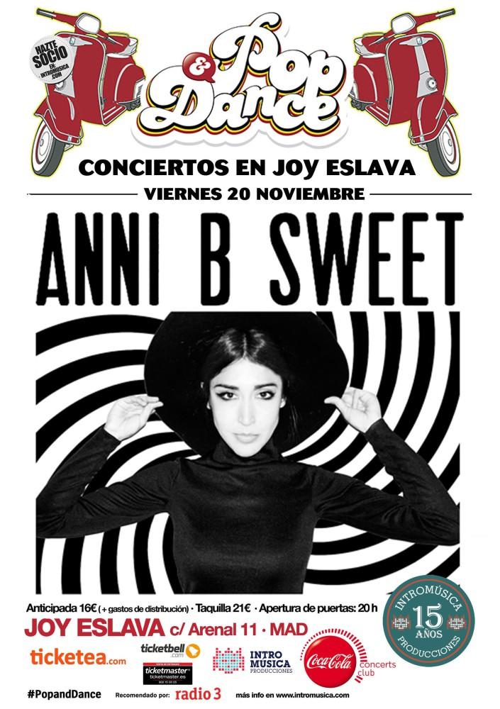 Anni B Sweet, el 20 de noviembre concierto en Madrid