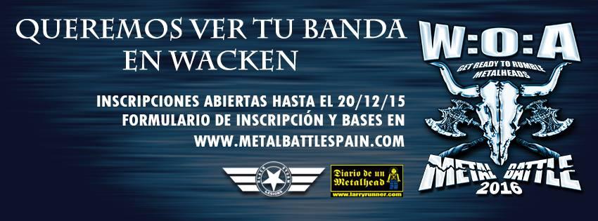 Metal Battle Spain, concursa hasta el 20 de diciembre y toca en Wacken en 2016
