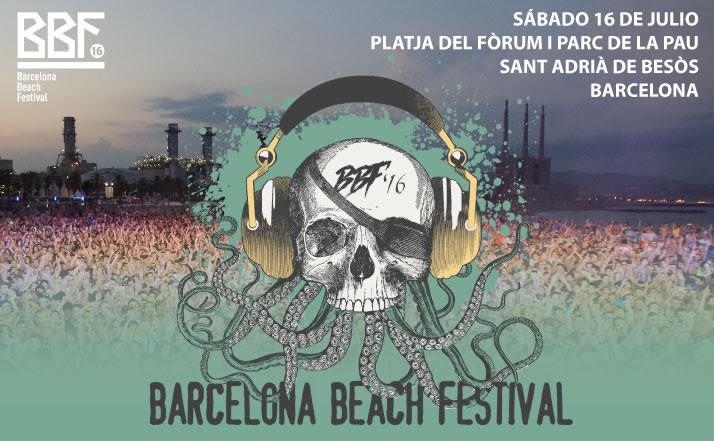 Barcelona Beach Festival 2016, el 16 de julio en Platja del Fòrum