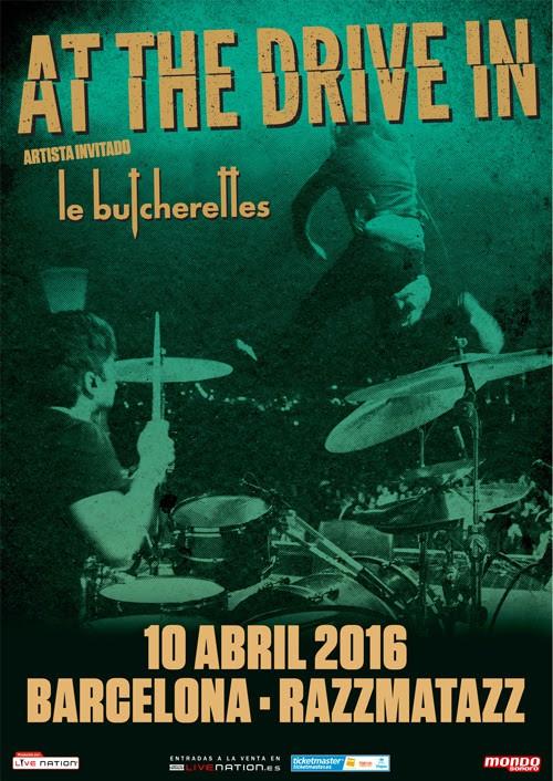 At the drive in, concierto en Barcelona el próximo 10 de abril
