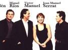 Joan Manuel Serrat, Ana Belén, Miguel Ríos y Víctor Manuel juntos en Madrid y Barcelona