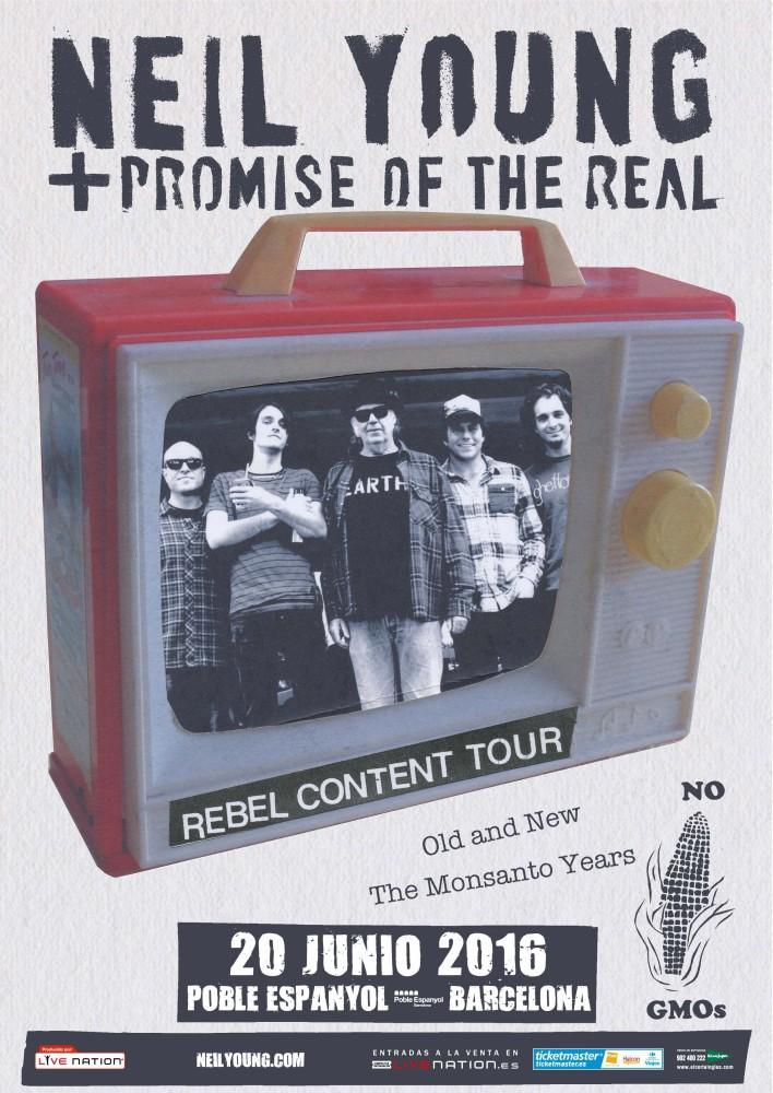 Neil Young, con Promise of the real, el 20 de junio en Barcelona