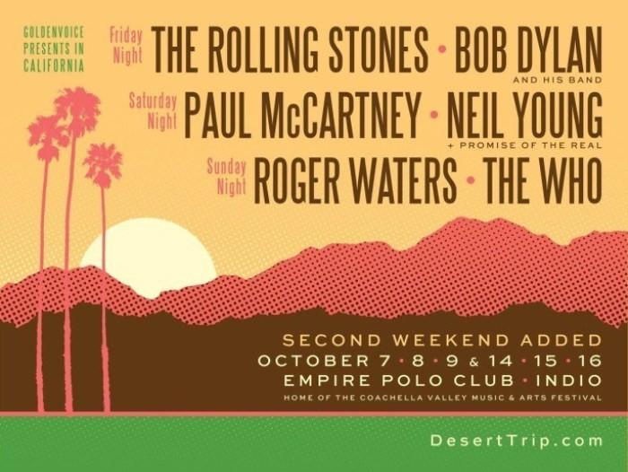 Desert Trip Music Festival, dos fines de semana con lo mejor del rock