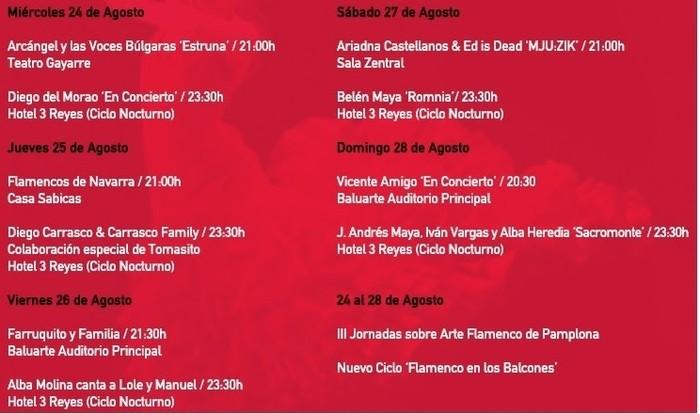 Festival Flamenco on Fire 2016 programación