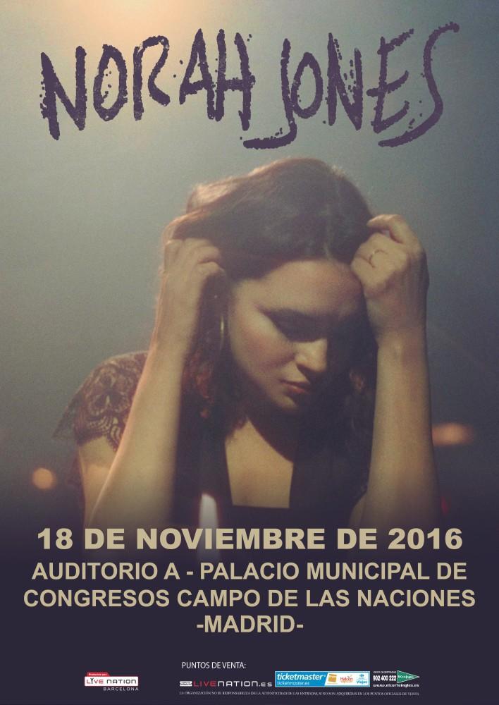 Norah Jones, el 18 de noviembre concierto en Madrid