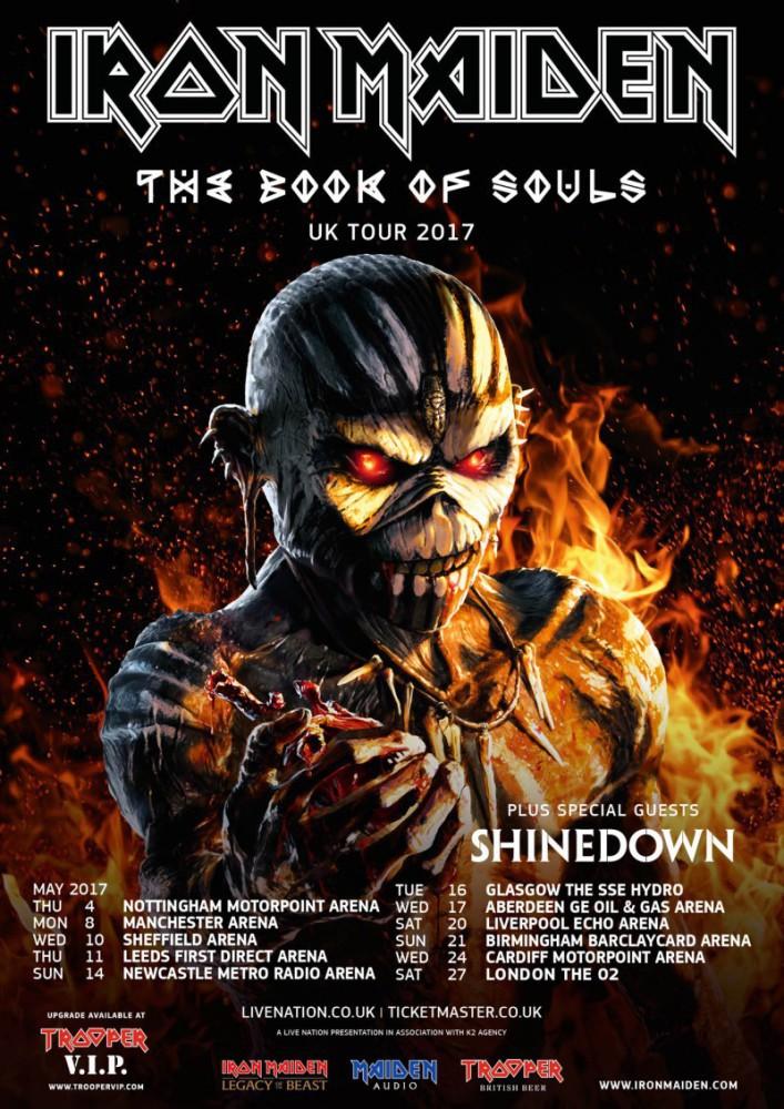 Iron Maiden, primeras fechas confirmadas de su gira en 2017