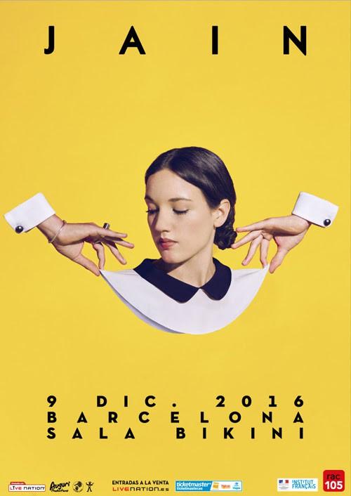 Jain, concierto en Barcelona el próximo 9 de diciembre