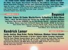 Beyonce, Kendrick Lamar y Radiohead cabezas de cartel de Coachella 2017