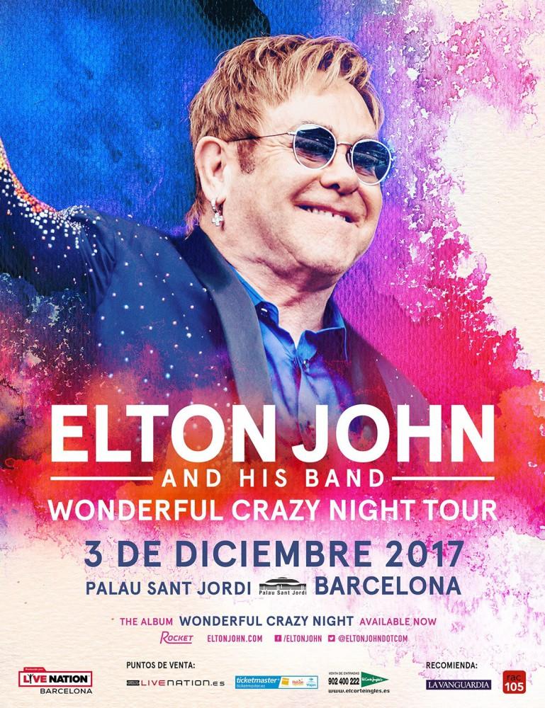 Elton John, concierto el 3 de diciembre en el Palau Sant Jordi de Barcelona