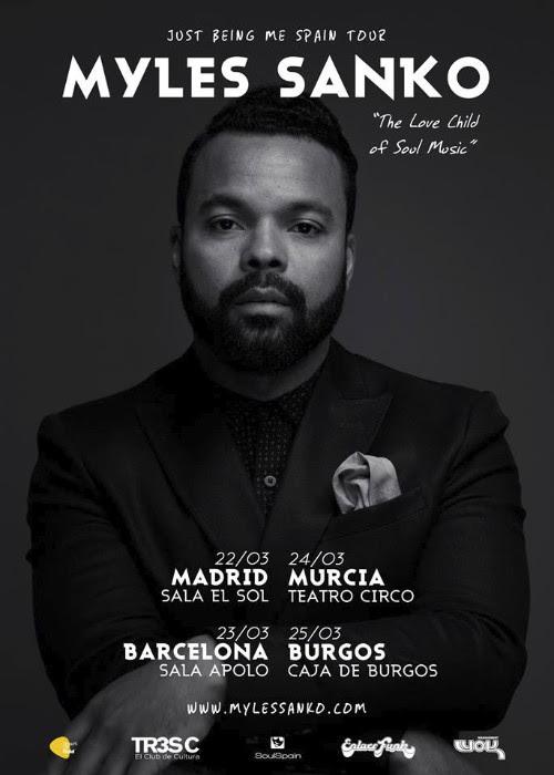 Myles Sanko, gira por España en marzo