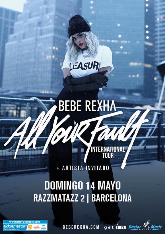 Bebe Rexha, concierto en Barcelona el próximo catorce de mayo