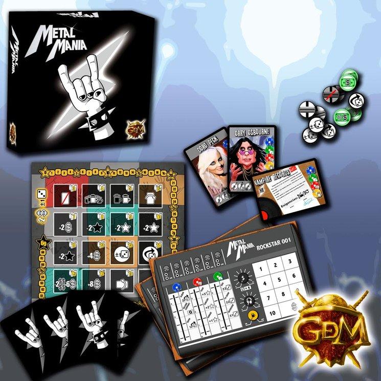 MetalManía,  juego de mesa sobre el heavy, y su alta popularidad