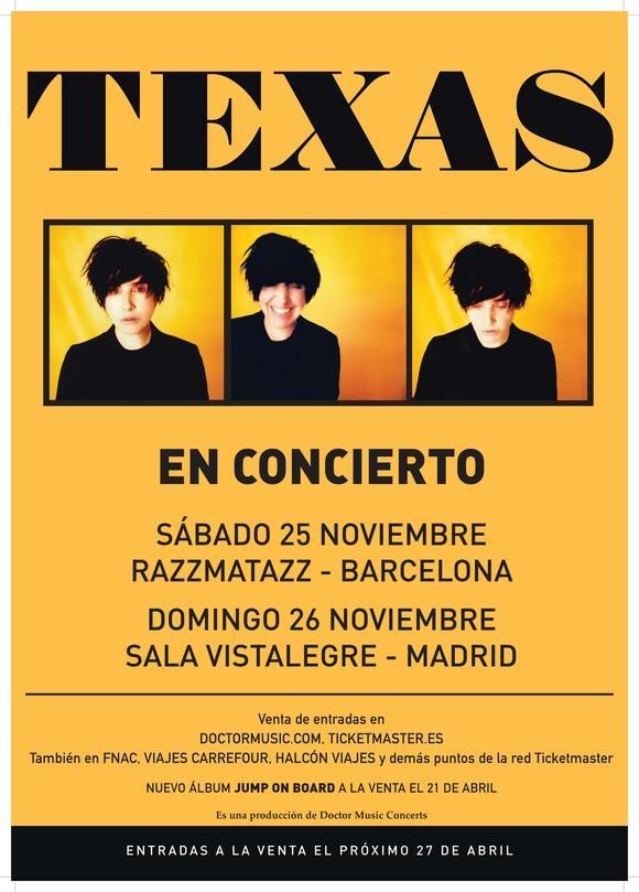Texas, gira por España en noviembre de 2017