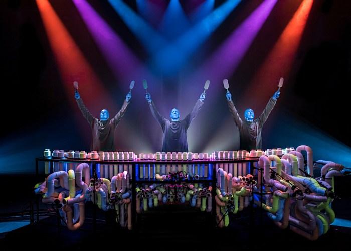 Blue Man Group, actuación en Barcelona en diciembre