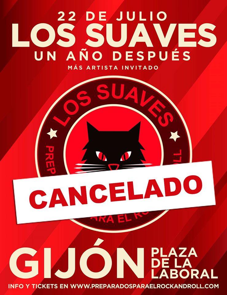 Los Suaves cancelan su concierto de regreso a los escenarios