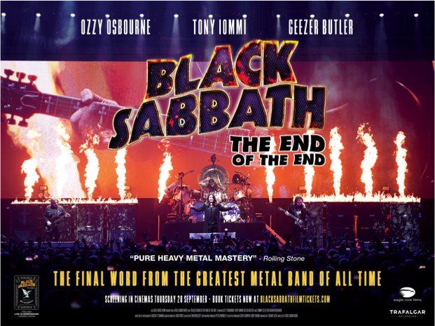 Black Sabbath, The End of The End en los mejores cines el 28 de septiembre
