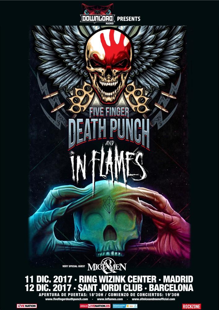 Five Finger Death Punch e In Flames, gira por España en diciembre