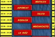 Rabolagartija 2017 horarios sábado