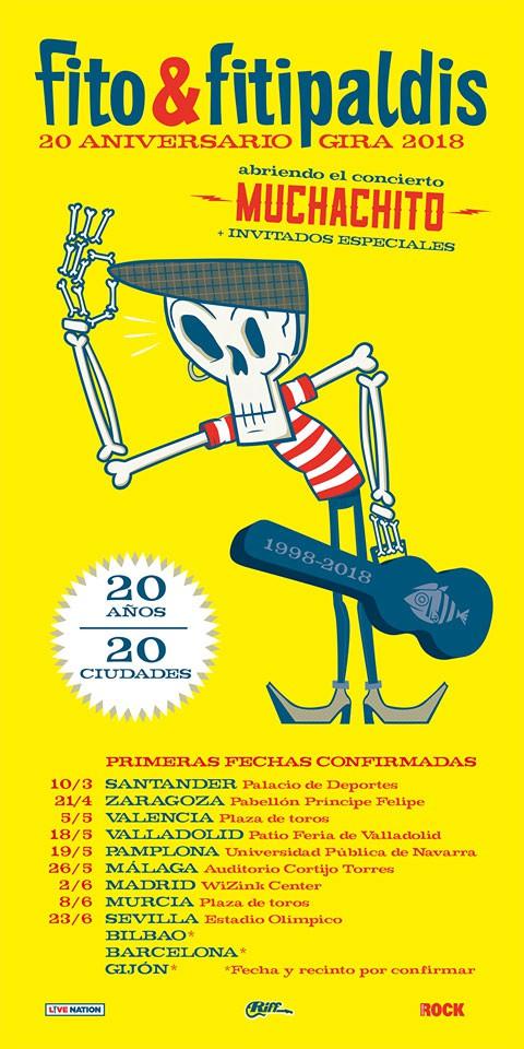 """Fito y Fitipaldis, su gira """"20 años, 20 ciudades"""" comienza el 10 de marzo en Santander"""