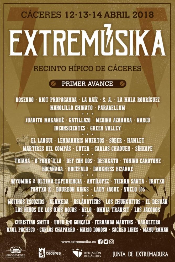 Extremúsika 2018 se celebrará entre el 12 y el 14 de abril en Cáceres