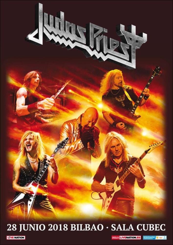Judas Priest, concierto en Bilbao el 28 de junio