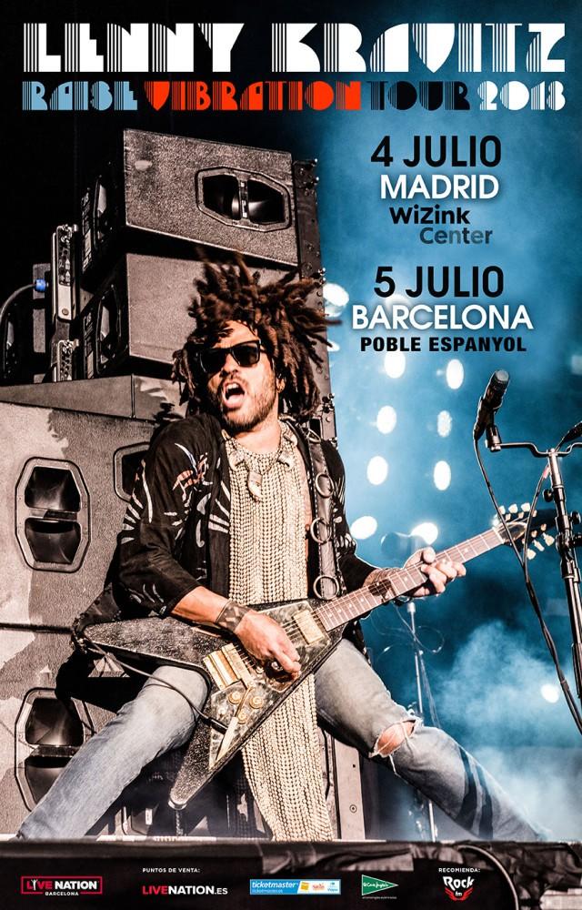 Lenny Kravitz, gira por España en julio de 2018