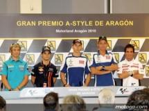 Rueda de prensa con Lorenzo, Pedrosa, Rossi, Elías y Bautista en Motorland