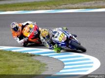 Valentino Rossi se adelantó en la salida del GP de MotoGP en Japón