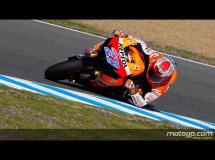 Casey Stoner marca la pole de MotoGP en Jerez, con Pedrosa 2º y Lorenzo 3º