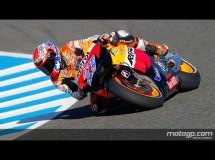Casey Stoner controla la FP1 de MotoGP en Jerez con Pedrosa 2º y Rossi 3º