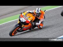Dani Pedrosa sorprende en MotoGP en Estoril con Lorenzo 2º y Stoner 3º
