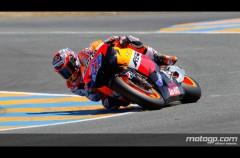 Casey Stoner encabeza al poderío de Honda en MotoGP en Le Mans