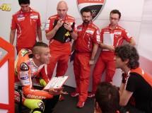 Valentino Rossi rodó ayer con la Ducati GP12 en Mugello