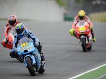 Álvaro Bautista a lo grande en Sachsenring contra Hayden y Rossi