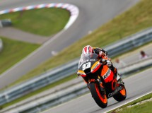 Marc Márquez a pelear en la FP3 con su Moto2 en Brno