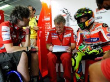 Valentino Rossi rodó ayer en Jerez con la GP12