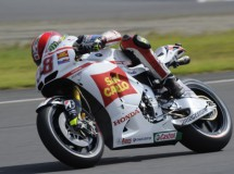 Marco Simoncelli probó ayer la Honda RC213V en Japón