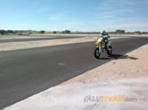 Álvaro Bautista rodando hoy en el Karting Barataria