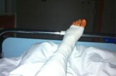 Stefan Bradl fue operado ayer de su pierna izquierda