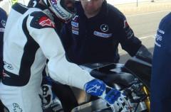 Maverick Viñales de test en Almería con su Moto3