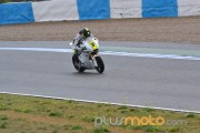 Dani Rivas en acción Moto2 CEV Jerez 2012