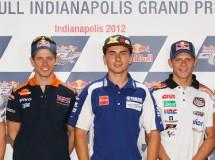 Stoner, Lorenzo, Rossi, Hayden y Bradl en la rueda prensa MotoGP en Indy