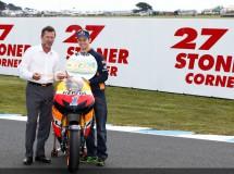 Casey Stoner ya tiene su curva 3 en Phillip Island