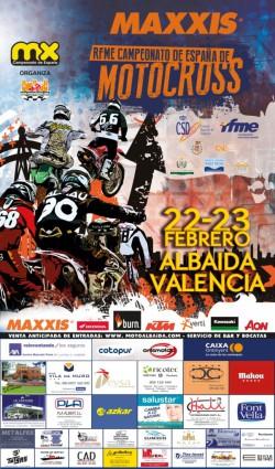 Cartel 1ª Prueba Maxxis RFME Cto. de España de Motocross 2014 Albaida