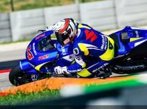 Schwantz y De Puniet trabajan en la Suzuki MotoGP en Austin
