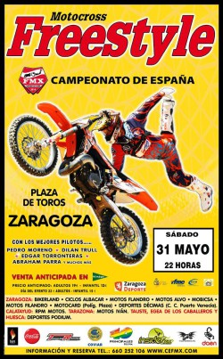 Cartel RFME FMXZaragoza 2014